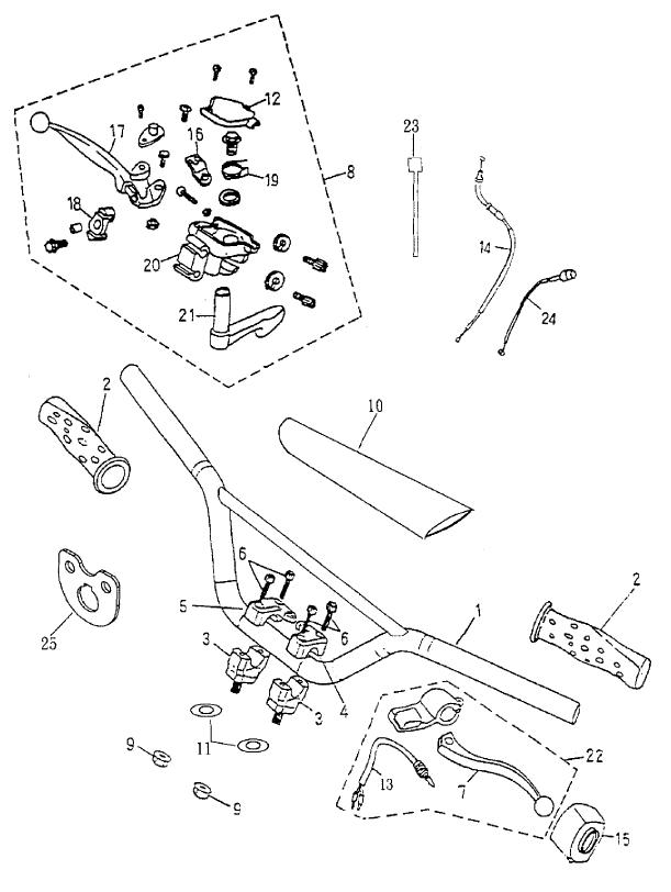 Handlebar (Bombardier Mini DS 90 4T 2005-)