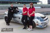 Part of the team relaxing after a hard day at Rockingham