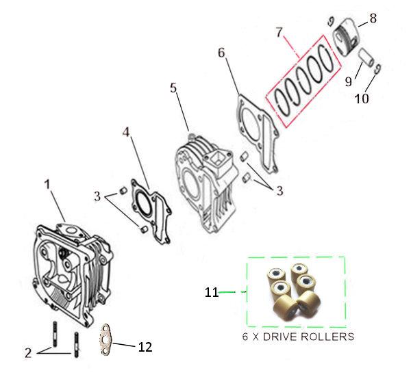 150cc BORE-UP KIT SPARE PARTS