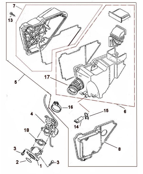 Carburetter and Air Filter