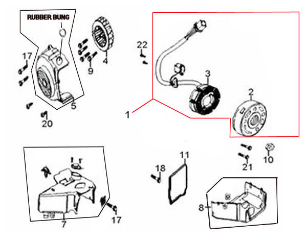 Peace Sports 150cc Scooter Wiring Diagram. Parts. Wiring