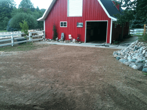 Grade driveway 1