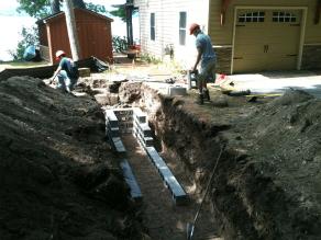 Installing block drywells 2 pic 1