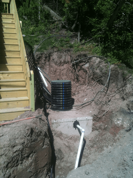 Low pressure septic install 1
