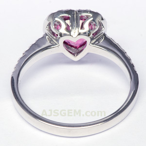 Rubellite and Diamond Ring side view
