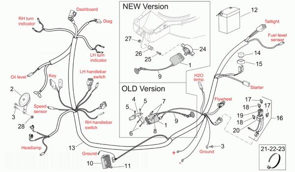 APRILIA SR50 LC Electrical System Ii
