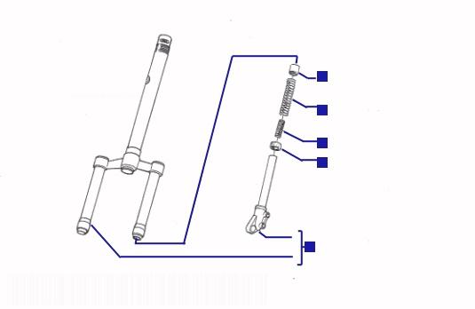 Piaggio Typhoon 125 Steering Column