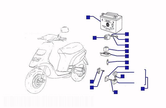 Piaggio Typhoon 125 Electrical Devices