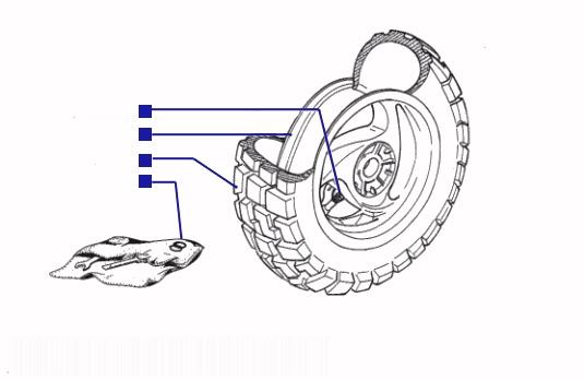 Piaggio Typhoon 125 Rear Wheel