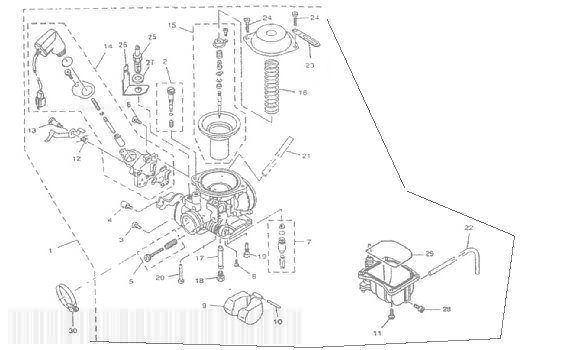 MBK SKYLINER 125 Carburetor