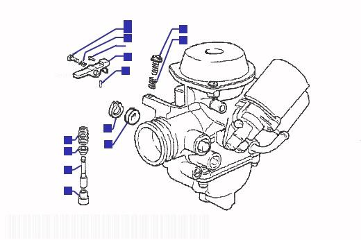 Gilera DNA 180 Carburetor