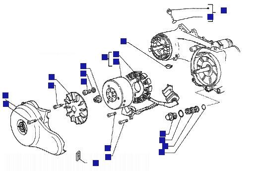 Vespa ET4 50 4T Flywheel Magneto
