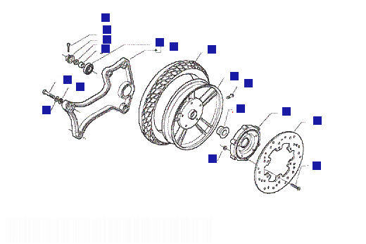 Vespa Granturismo 125L (GT) Rear Wheel