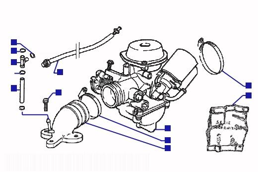 Piaggio Hexagon 125 GTX Carburetor
