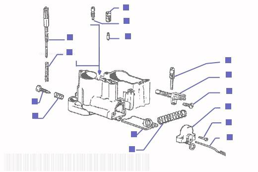 Vespa PX125E Carburetor Component Parts