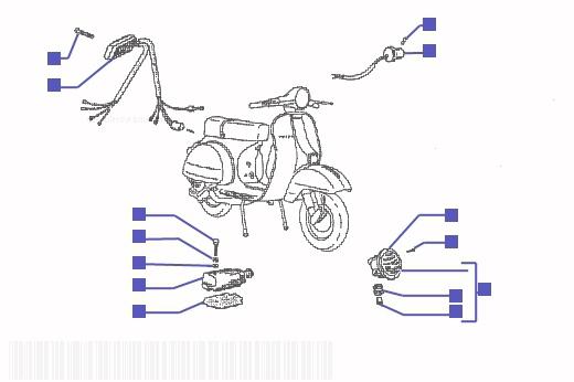 Vespa PX125E Electrical Devices