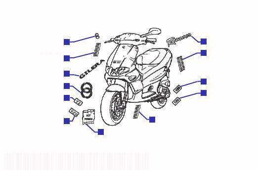 Gilera Runner 180 VXR Emblems