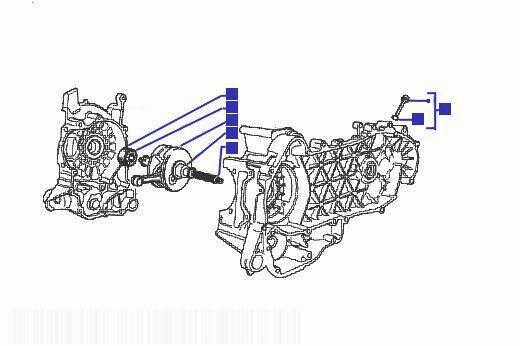 Gilera Runner 180 VXR Crankshaft