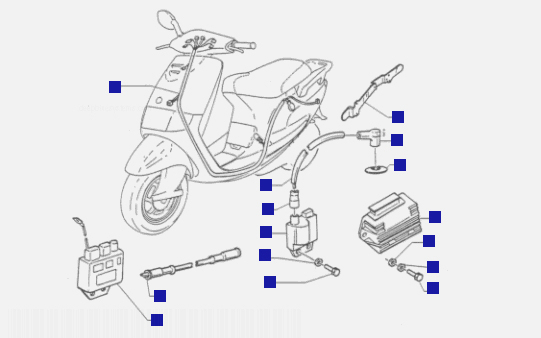 Piaggio Sfera 125 4ST Electrical Devices