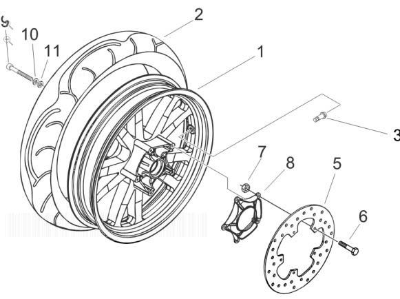 Piaggio Beverly 250 (Euro 3) Rear Wheel