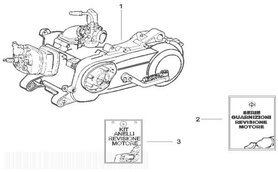Gilera Runner 50 SP RACE Engine, Assembly