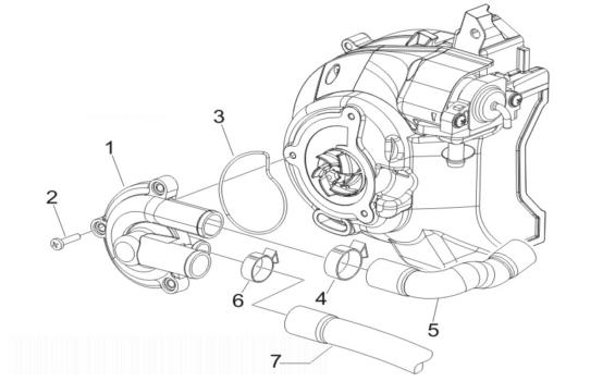 Piaggio X Evo 125 (Euro 3) Water Pump