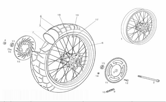 Derbi Mulhacen 125 4T E3 Rear Wheel
