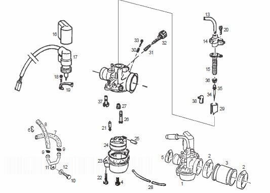 Derbi GP1 50 LC Carburetor