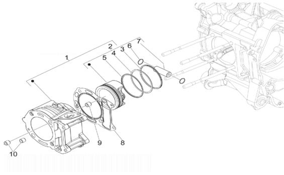 Piaggio MP3 125 ie Cylinder-piston