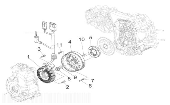 Vespa GTS125 4T ie Super (Euro 3) (UK) Flywheel