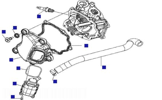 Vespa Granturismo 125L (GT125L) Cylinder Head Cover