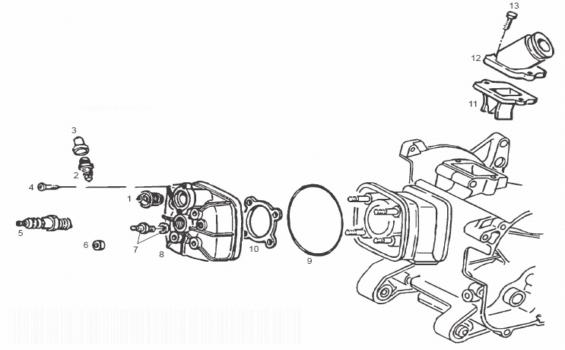 Derbi GP1 50 E2 Cylinder Head