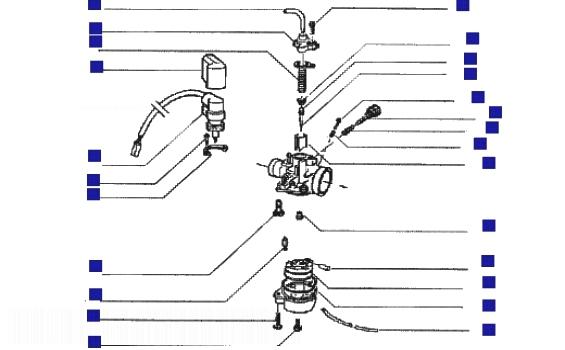 Gilera DNA 50 GP EXPERENCE Carburettor