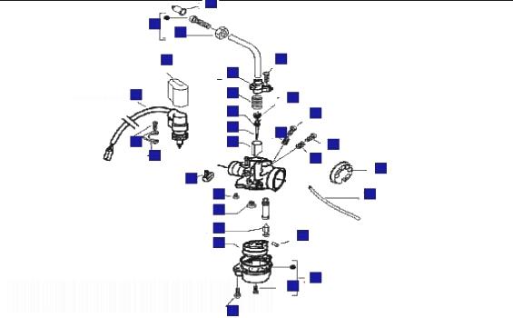 Gilera DNA 50 M.Y. 2005 Carb Components