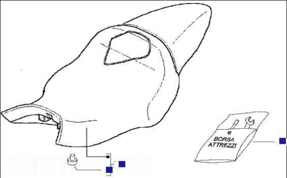 Gilera DNA 50 M.Y. 2005 Saddle