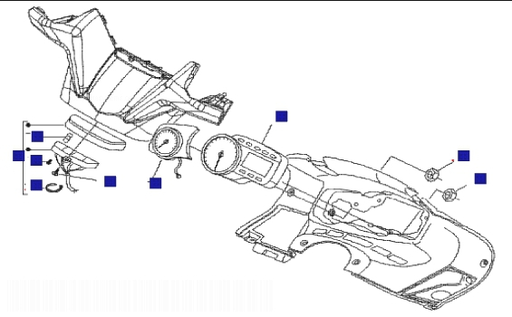 Gilera Nexus 500 (Euro 3) Meter Combination