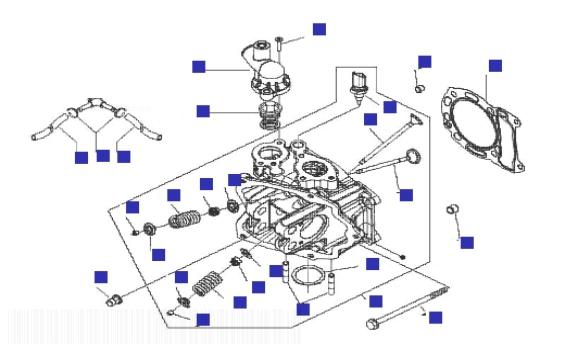Gilera Runner 125 VX 4T (Euro 3) (UK) Head Unit
