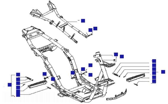 Gilera Runner 125 VX 4T (Euro 3) (UK) Frame