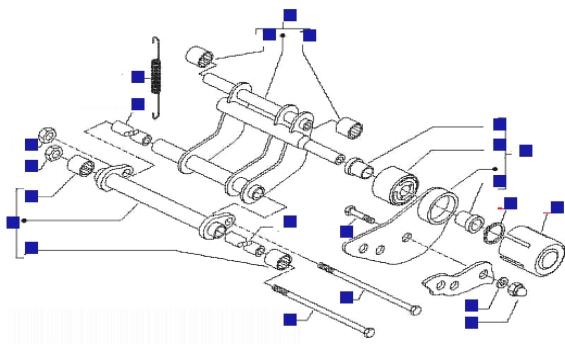 Gilera Runner 125 VX 4T (Euro 3) (UK) Swinging Arm