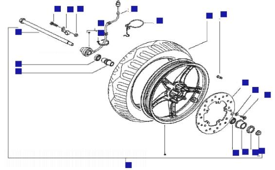 Gilera Runner 125 VX 4T (Euro 3) (UK) Front Wheel