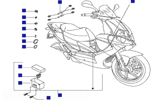 Gilera Runner 125 VX 4T (Euro 3) (UK) Cable Harness