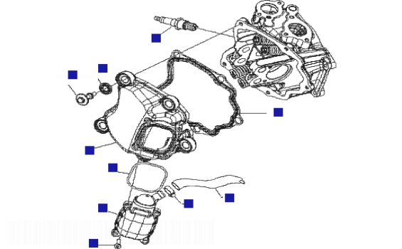 Gilera Runner 200 VXR 4T (Euro3) Cylinder Head