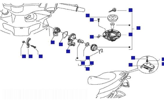 Gilera Runner 200 VXR 4T Locks