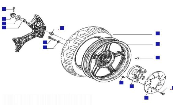 Gilera Runner 200 VXR 4T Rear Wheel