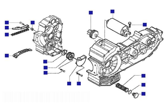 Gilera Nexus 500 Oil Pump-electric Starter