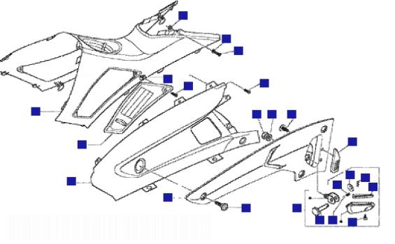 Gilera Nexus 500 Central Part