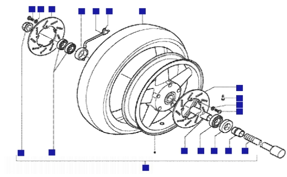 Gilera Nexus 500 Front Wheel