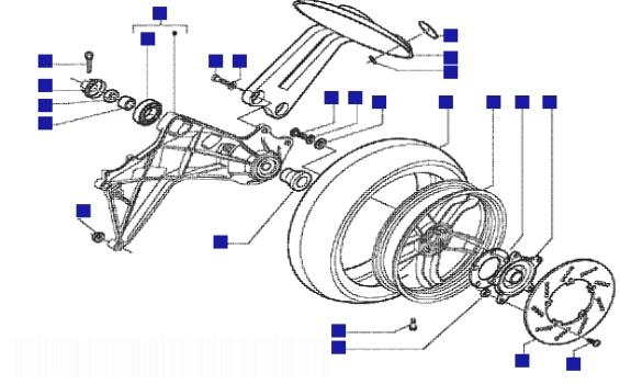Gilera Nexus 500 Rear Wheel
