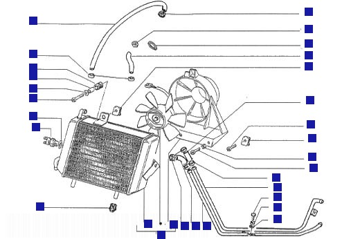 Gilera Runner 180 FXR drum Cooling System