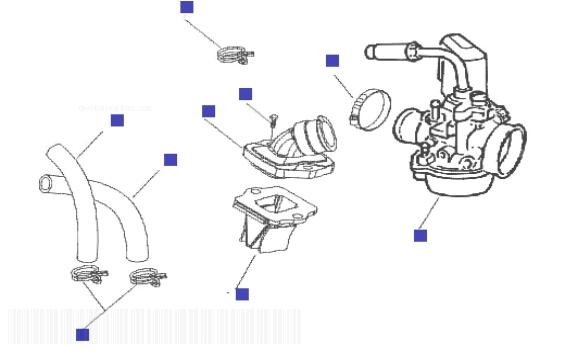 Gilera Runner 50 SP (UK) Carburettor Assembly